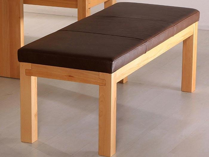bank luca 130cm ohne lehne verschiedene varianten. Black Bedroom Furniture Sets. Home Design Ideas